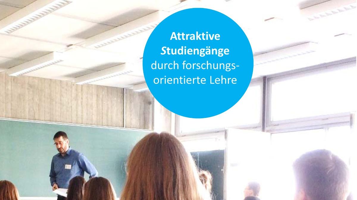 Seminar mit Text: Attraktive Studiengänge durch forschungsorientierte Lehre