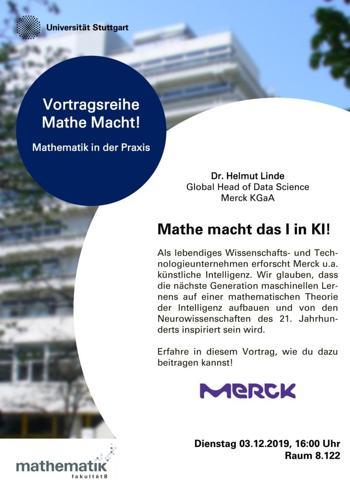 Poster der Verwanstaltung mit der Firma Merck