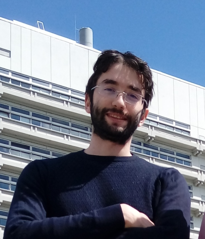 Giovanni Girardi in front of the building of the Mathematical department
