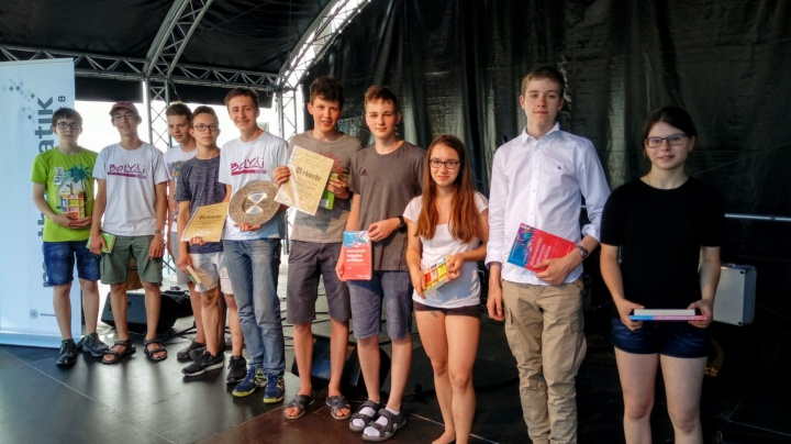 Photo: Das Siegerteam des Landesgymnasium für Hochbegabte Schwäbisch Gmünd (c)