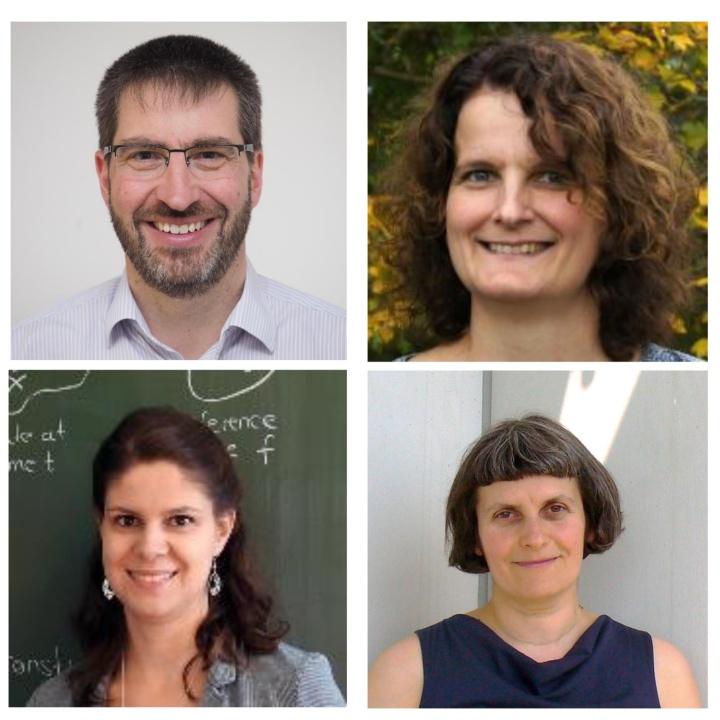 Preise der Fachgruppe Mathematik: Prof. Michael Eisermann, Dr. Friederike Stoll, Prof. Bernadette Hahn-Rigaud, Priv.-Doz. Dr. Anda Degeratu