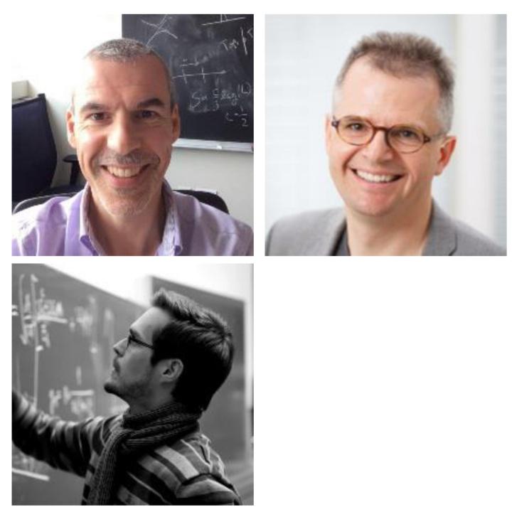 Preise der Fachgruppe Physik: Prof. Eric Lutz, Prof. Harald Giessen und Dr. Nicolai Lang