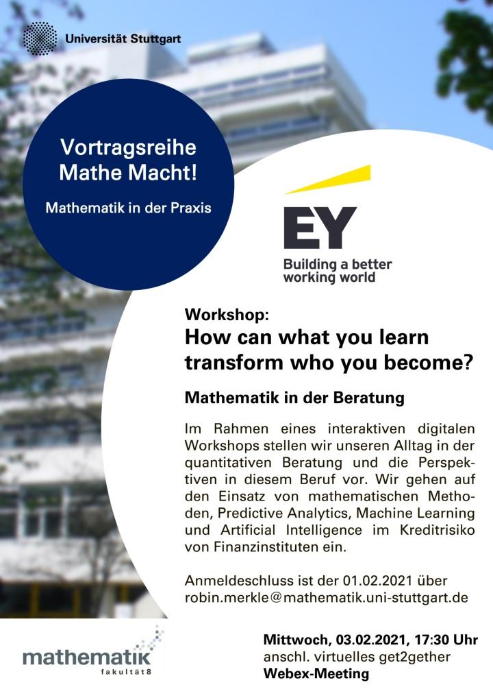 Poster der Verwanstaltung mit der Firma EY