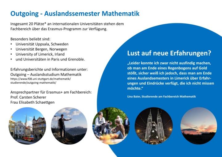 Poster Studiern im Ausland