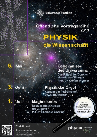 Plakat Physik die Wissen schafft
